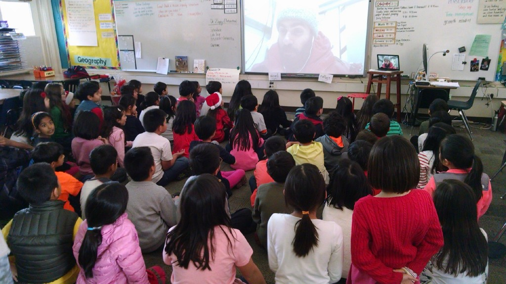 Video-chat with students